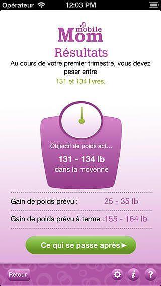 Calculateur de poids pour la grossesse et prise de poids bébé su pour mac