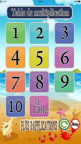 Table de multiplication pour mac