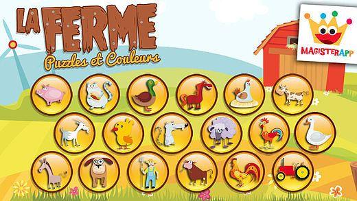 La Ferme - Puzzle, Couleurs et Dessins pour Enfants, Jeux de Col pour mac