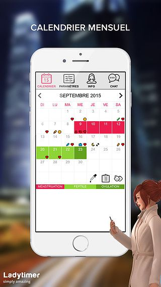 Ladytimer calendrier d'ovulation  pour mac