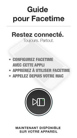 Guide pour Facetime et Facetime Audio pour mac