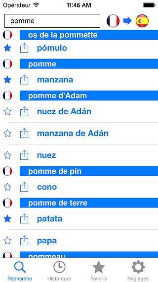 Application traduction francais espagnol hors ligne