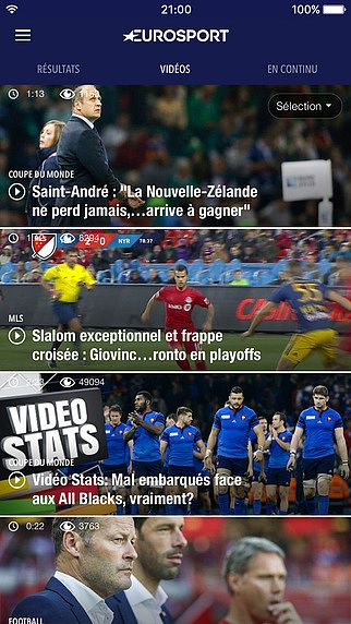 Eurosport, toutes les news sport pour mac