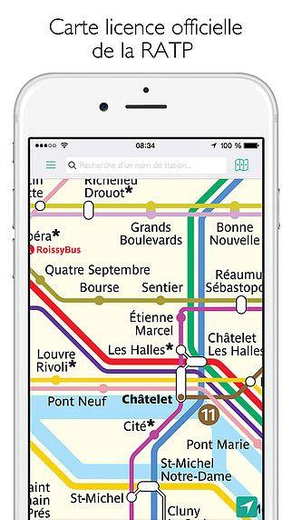 Paris métro Carte et Itinéraire pour mac