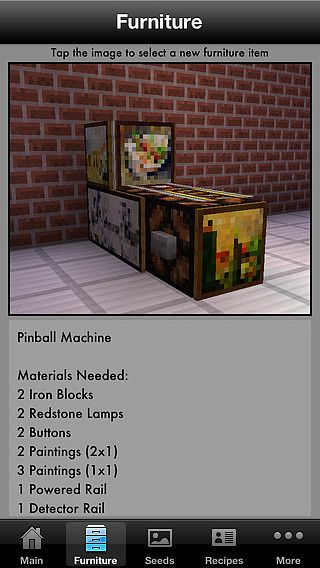 Guidecraft - Seeds, Furniture Ideas and Crafting Guide for Minec pour mac