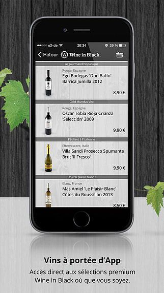 Wine in Black - Vins et Champagnes à portée de Smartphone pour mac