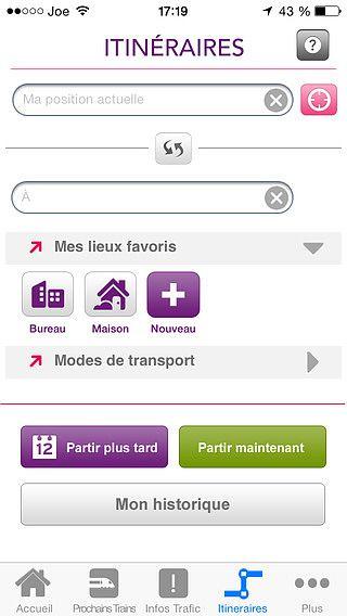 SNCF Transilien pour mac