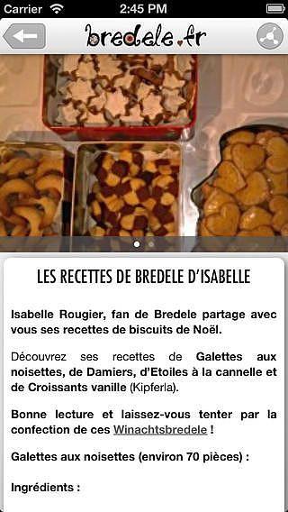 Bredele - Recettes de cuisine d'Alsace ! pour mac
