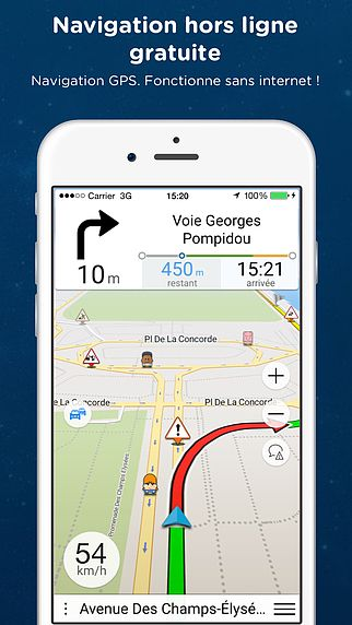 Navmii GPS Italie: Navigation, cartes et trafic (Navfree GPS) pour mac