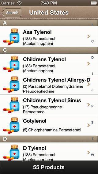 World Drugs DB - Base de donnée mondiale de médicaments pour mac
