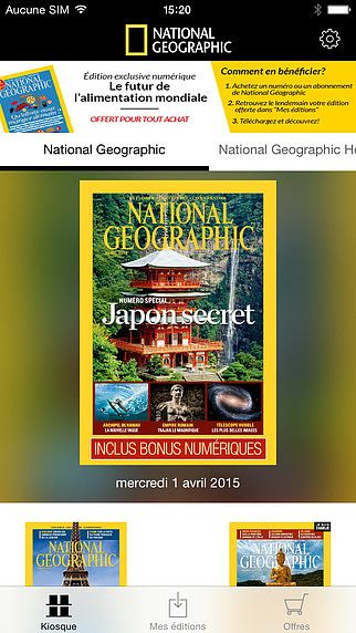 National Geographic France, le magazine pour mac