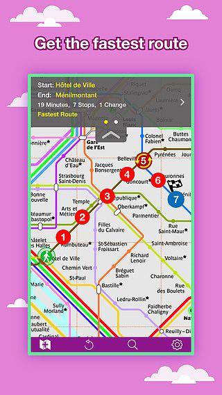 Carte des transports de Paris - Carte et itinéraires de Metro pour mac
