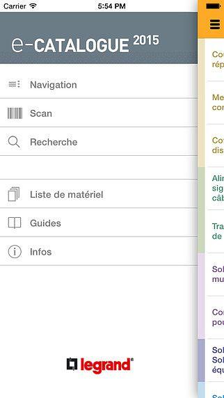 E-catalogue Legrand FR pour mac