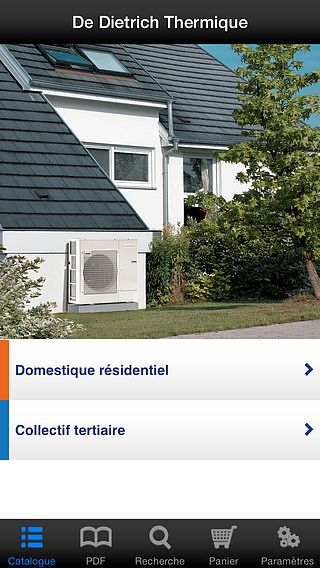 E-catalogue De Dietrich pour iPhone pour mac