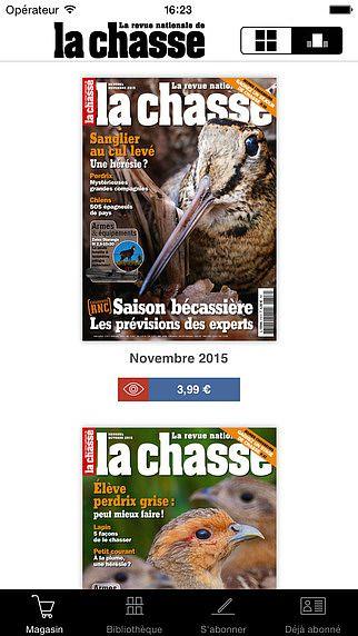 La Revue Nationale de la Chasse Magazine pour mac