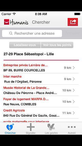 Défibrillateurs en France pour mac