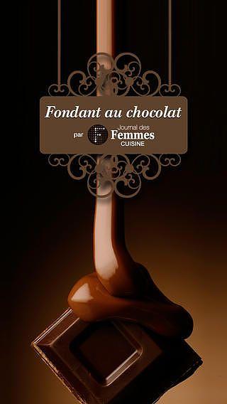 Fondant au chocolat pour mac