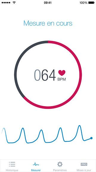 Runtastic Heart Rate, cardiofréquencemètre pour mac