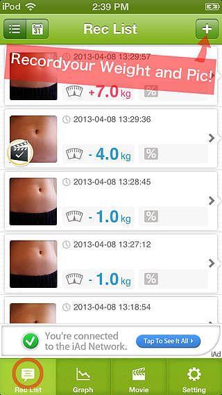 Journal de régime visuelle -Enregistrez votre poids et photo- pour mac