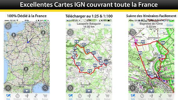 OutDoors GPS France - Cartes IGN pour mac