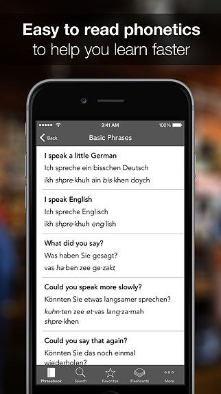 SpeakEasy German ~ Offline Phrasebook and Flashcards with Native pour mac