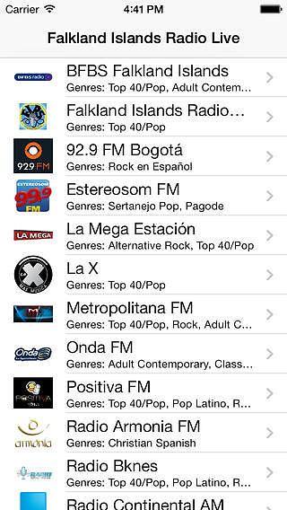 Falkland Islands Radio Live Player (Stanley / Islas Malvinas / S pour mac