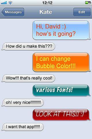 Color SMS/Message HD pour mac