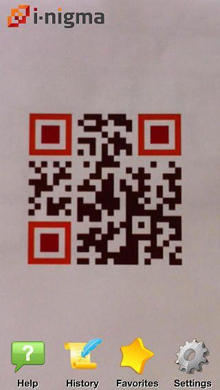 I-nigma QR Code, Data Matrix and 1D barcode reader pour mac
