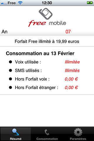 Free Mobile Conso - Non Officiel pour mac