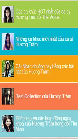 Ca si Huong Tram Quan Quan The Voice - Bai hat va clips nhac pour mac