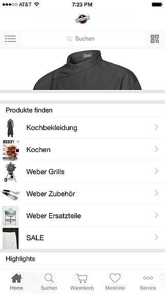 Robini Kochbekleidung und Weber World Store Salzburg Austria pour mac
