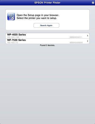 EPSON Printer Finder pour mac