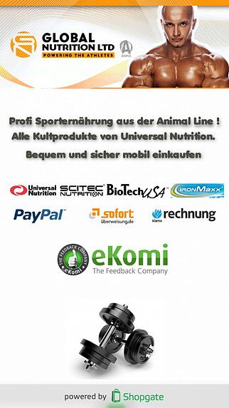 Global Nutrition Sporternährung pour mac