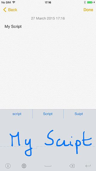 MyScript Stylus - Handwriting Keyboard pour mac