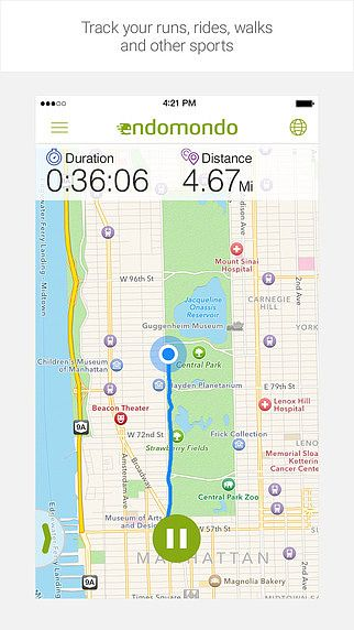 Running and Walking with Endomondo pour mac