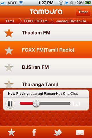 Tambura Tamil Radio : Indian Desi radio pour mac