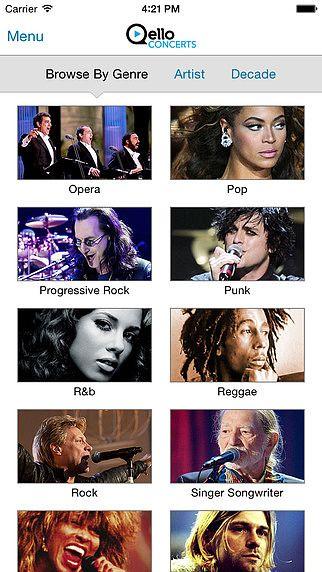 Qello Concerts pour mac