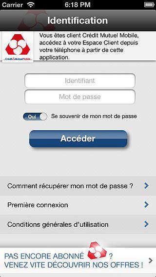 Crédit Mutuel Mobile pour mac