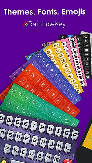 Clavier RainbowKey - clavier coloré avec des thèmes HD en arrièr pour mac