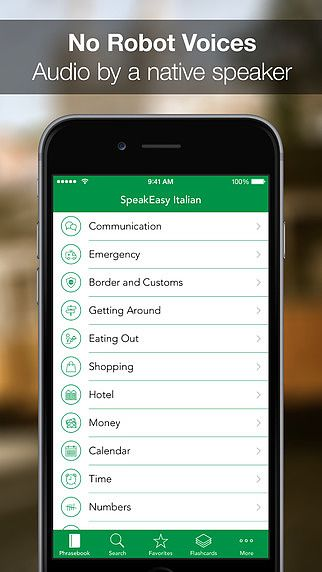 SpeakEasy Italian ~ Offline Phrasebook and Flashcards with Nativ pour mac