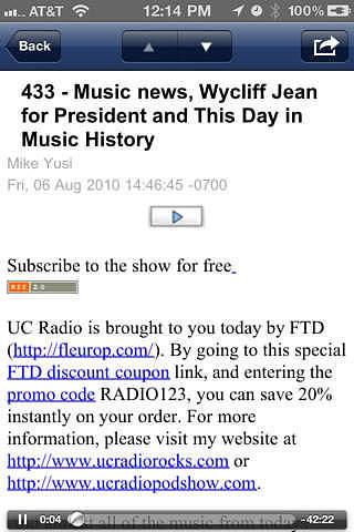 UC Radio pour mac