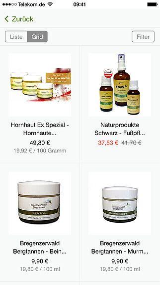 Naturprodukte Schwarz - Online shop pour mac