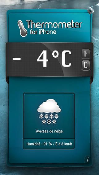 Thermometre FREE for iPhone  pour mac