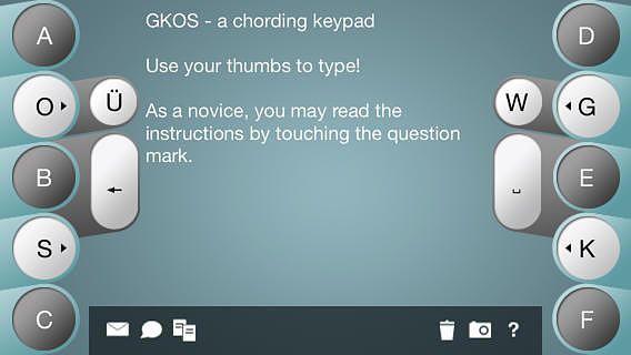 Chorded Keyboard - GKOS pour mac