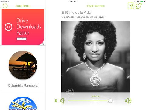 Salsa Radio - iPad Edition pour mac