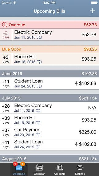 BillTracker for iPhone pour mac