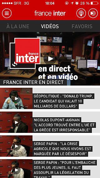 FRANCE INTER pour mac