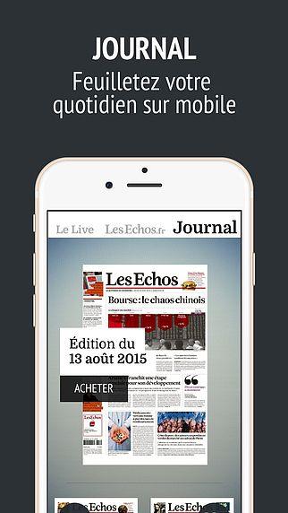 Journal Les Echos pour mac