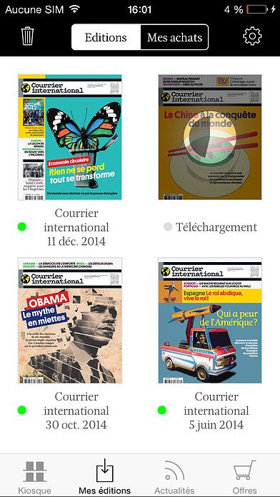 Courrier international - Magazine pour mac