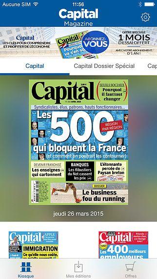 Capital, le magazine de l'économie pour mac